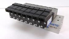 Festo Batterieblock PRMZ-5-M5-10 30250 + 8 Magnetventile MZH-5/2-1,5-L-LED 30220
