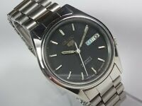Vintage Seiko 5 Automatic Movement Day Date Dial Mens Analog Wrist Watch C341