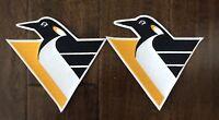 "VINTAGE 1992-2000 PITTSBURGH PENGUINS NHL HOCKEY 6"" TEAM PATCH- SET OF 2"