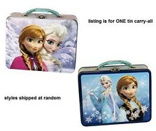 Disney Frozen ANNA & ELSA TIN LUNCH BOX CARRY-ALL w HANDLE by The Tin Box ~NEW~