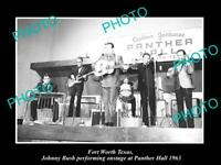 OLD 8x6 HISTORIC PHOTO OF FORT WORTH TEXAS JOHNNY BUSH AT PANTHER HALL 1963