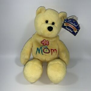 "Limited Treasures The Mom Bear ""Love 'Ya Mom!"" Yellow Bean Bag Mother's Day NWT"