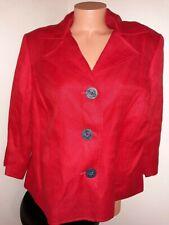 Ralph Lauren LRL Women's 100% Linen Blazer Jacket Red • Size 16W