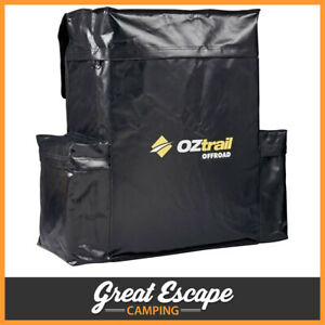 Oztrail Rear Spare Wheel Bin Black 60L Recovery Storage Bag Accessories 4x4 4wd