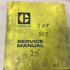 Cat Caterpillar 528 Service Shop Repair Manual Oampm Log Skidder Guide Sn 51s