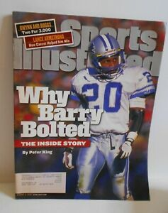 """VINTAGE SPORTS ILLUSTRATED AUG 9,99 VOL 91 NO.5 """"WHY BARRY BOLTED"""""""