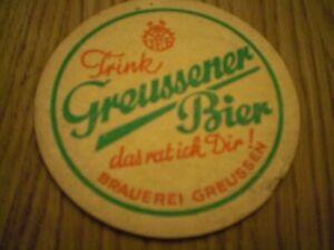 Bier Brauerei Bierdeckel  VEB Greussener Greussen