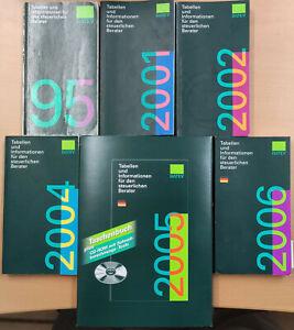 DATEV Tabellen und Informationen für den steuerl. Berater 1995,2001,2002,2004-06
