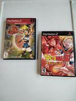 LOT 2 JAK &  DAXTER Dragon PRESCUSOR & DRAGONBall Z Budokai  PS2 PLAYSTATION