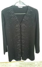 Marks & Spencer Black Beaded Cardigan Size 10 Excellent Condition