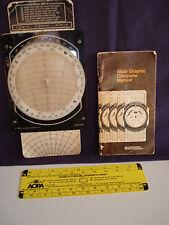 1983 JEPPERSEN SANDERSON SLIDE GRAPHIC COMPUTER W/MANUAL + CRUISING ALT SCALE