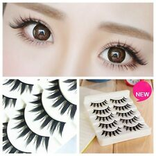 New 5 Pairs Natural Japanese Serious False Eyelashes Long Thick Extension Makeup