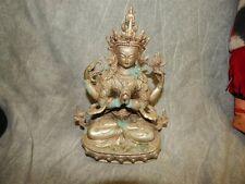 Old Tibet Tibetan Brass Four-armed Avalokiteshvara Buddha Statue