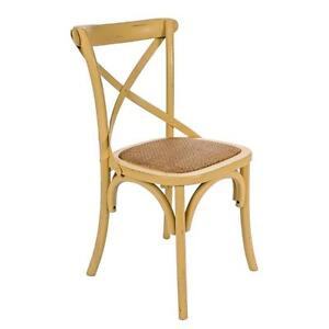 Wooden Chair David Color Ochre