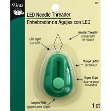 Dritz LED Lighted Needle Threader Green NEW FREE SHIPPING