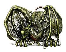 Dragon Belt Buckle Zarten Sword Mythical Fantasy Authentic Bulldog Buckle Co