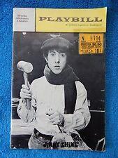 Jimmy Shine - Brooks Atkinson Playbill w/Ticket - January 10th, 1969 - Hoffman