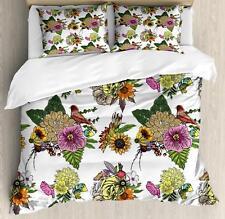 Aster Flower Duvet Cover Set Twin Queen King Sizes with Pillow Shams