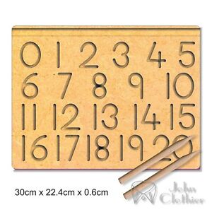 Tracing Board Number 0-20 Writing Practice Preschool Learning to write Pencil