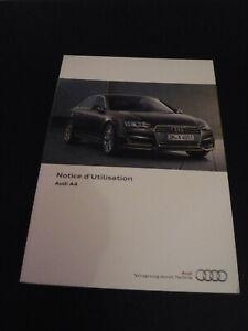 NEU Audi A4 Bedienungsanleitung Notice d´Utilisation F französisch 01/2016