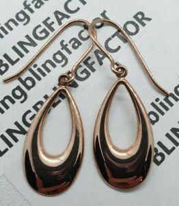 100% Genuine 9k Rose Gold Dangle Drop Earrings