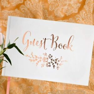 Wedding Guest Book Rose Gold J&A Homes Store