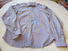 Mens Ruehl No. 925 New York XL long sleeve button up shirt casual striped EUC@