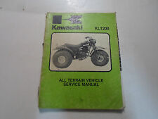 1980s 90s Kawasaki KLT200 All Terrain Vehicle Service Repair Manual DAMAGED DEAL