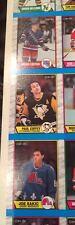 1989 90 OPC UNCUT SHEET JOE SAKIC BRIAN LEETCH ROOKIE CARDS! NEAR MINT