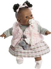 Berbesa - Preciosa muñeca Alicia negrita llorona chaleco rosa. Caja (4355)