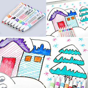 8 Colours Chalk Pens Marker Whiteboard Wipe Clean Highlighter Kids Paintings DIY