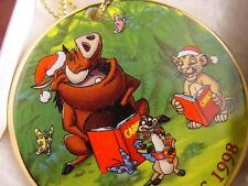 DISNEY THE LION KING CHRISTMAS ORNAMENT 1998 MIB Jungle Bells Simba GROLIER wBOX