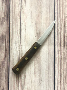 "Vintage Chicago Cutlery Paring Knife 3"" Wood Handle Kitchen Sharpened Refinish"