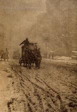 """Alfred Stieglitz Photo  """"Winter""""  Fifth Avenue, New York, 1892"""
