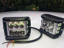 Ultraflex4x4 60W LED Work LIghts Rugged with Dual Mount + Camping + Flasher Mode