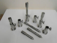 """6 x Stainless Steel Stage stands + 6 x inserts. 2 of each 3"""", 4"""", 5"""" inserts"""
