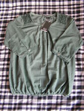 hübsche grüne Bluse | Gina Benotti | Gr. M /40-42) | ¾ Arm | neu