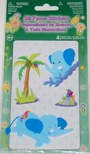 3D Foam Stickers Blue Elephants 4  Pieces NEW Buy 2 Items-Get $2 OFF