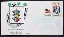 Illustrated Traffic Light Irish US Cover Syracuse Cohan Flag 15c USA Brief Y-597
