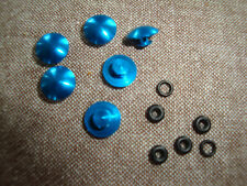 PROBOLT ANODISED ALUMINIUM BOLT CAP BUTTON  M6 WITH RUBBER SEAL BLUE SET OF 6