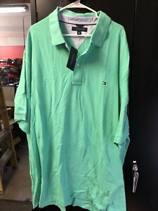 Tommy Hilfiger Polo Shirt Biscay Green Size 4XL NOS
