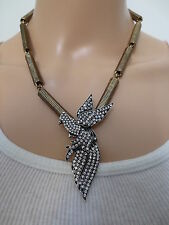 AN EXCEPTIONAL SIGNED AUTHENTIC OSCAR DE LA RENTA RUNWAY LOVE DOVE NECKLACE