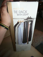 THE REVOLVING TIE RACK WITH LIGHT NEW