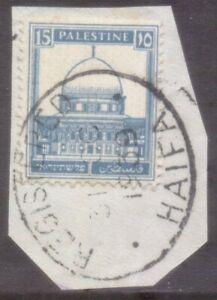 "PALESTINE  OVAL  POSTMARK / CANCEL  ""REGISTERED  HAIFA""   1939"