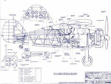 Gloster Gladiator original Blueprint Plan archive drawing 1939 1940 DVD RAF WW2