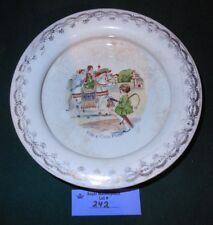 """Vintage McNicol stoneware PLATE Bowl """"Ride a Cock Horse"""" rhyme"""