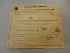 1941-42 Instructions for Installing Trico-Universal Adjustable Windshield Wiper