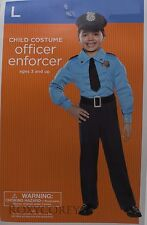 Halloween Boys Office Enforcer Jumpsuit Costume Size Large 10-12 NWT