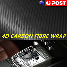 50cm x1.51M 4D Gloss Black Carbon Fibre Fiber Vinyl Car Wrap Air Release Film AU