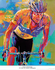 Lance Armstrong 7X Tour de France Champion  Malcolm Farley Print Poster 11x14